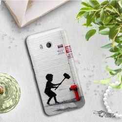 ETUI NA TELEFON HTC U11 BANKSY WZÓR BK178