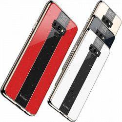 ETUI GLASS NA TELEFON SAMSUNG S10 PLUS PUDROWY RÓŻ