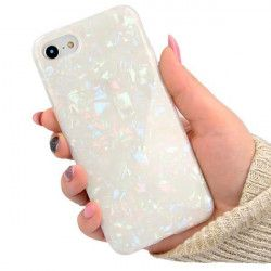 "ETUI GUMA CRUSH LUXURY BLING IPHONE 7 4.7"" BIAŁY"