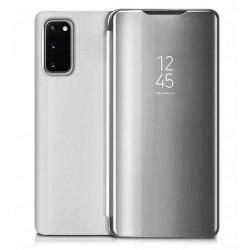 ETUI BOOK CLEAR VIEW NA TELEFON LG K61 SREBRNY