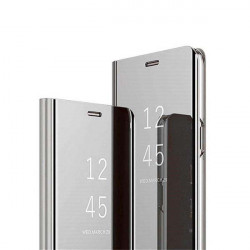 ETUI BOOK CLEAR VIEW NA TELEFON XIAOMI MI 10T 5G / MI 10T PRO 5G SREBRNY