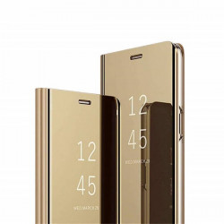 ETUI BOOK CLEAR VIEW NA TELEFON XIAOMI MI 10T 5G / MI 10T PRO 5G ZŁOTY
